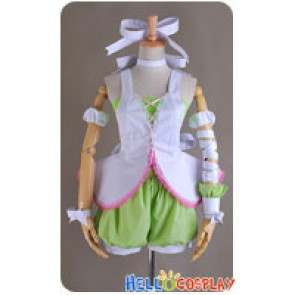 Vocaloid Cosplay Rin Kagamine Costume Uniform Green Pink