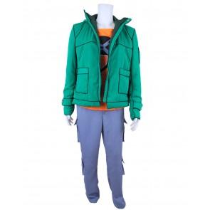Fairy Tail Loke Cosplay Costume Green Coat Full Set