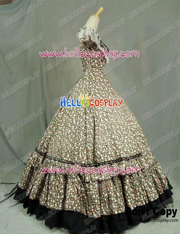 Victorian Civil War Ball Gown Reenactment Halloween Punk Lolita ...