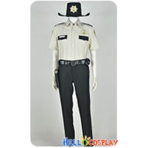 The Walking Dead Sheriff's Deputy Rick Grimes Cosplay Costume Uniform