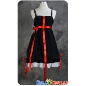 Guilty Crown Cosplay Inori Yuzuriha Black Sling Dress Costume