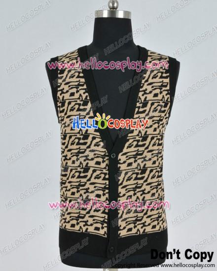 Ferris Buellers Day Off Cosplay Matthew Broderick Sweater Vest Costume
