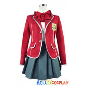 Guilty Crown Cosplay Yuzuriha Inori Costume Girl Uniform
