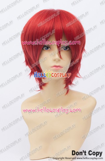 Vocaloid Cosplay Akaito Wig 30CM Red Ordinary Universal Short Layered