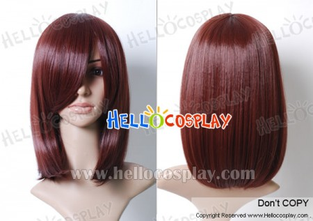 Red Brown 45cm Cosplay Straight Wig