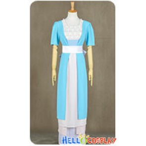 Titanic Rose DeWitt Bukater Cosplay Costume Blue Swim Gown Dress