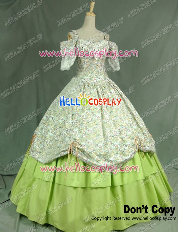 Victorian Civil War Ball Gown Prom Reenactment Clothing Steampunk ...