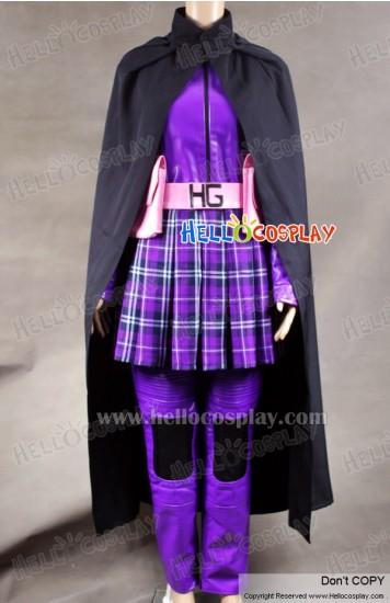 Kick-Ass Hit Girl Purple Leather Cosplay Costume