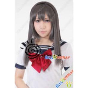 Puella Magi Madoka Magica Cosplay Akemi Homura Grey Wig