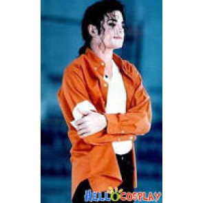 Michael Jackson JAM Orange Shirt