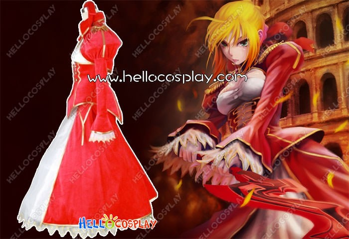 9584bc906ed Saber Fate EXTRA Cosplay Nero Red Saber Dress