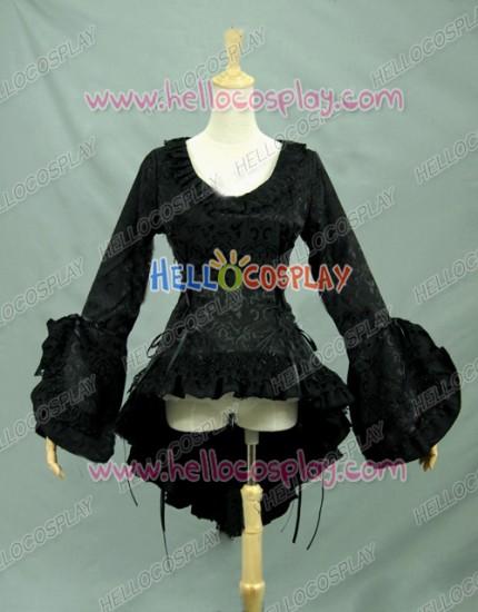 Victorian Lolita Reenactment Bodice Blouse Theatrical Gothic Lolita Dress