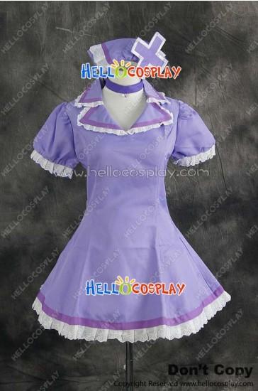 Vocaloid 2 Cosplay Luka Megurine Nurse Purple Dress Costume