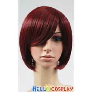Black Red BoBo Cosplay Short Wig