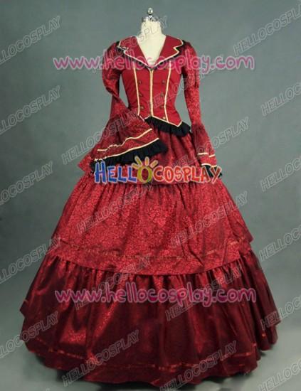 Victorian Lolita Civil War Evening Gothic Lolita Dress Garnet