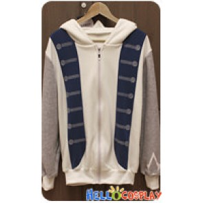 Assassins Creed 3 Cosplay Connor Costume Zipper Hoodie Jacket