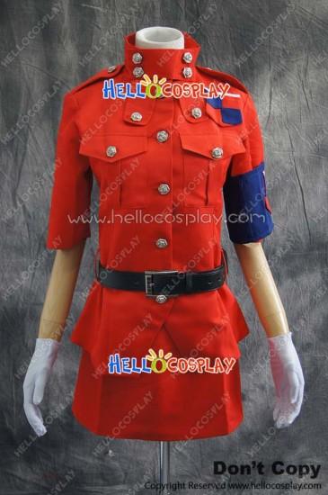 Hellsing Cosplay Seras Victoria Red Uniform Costume