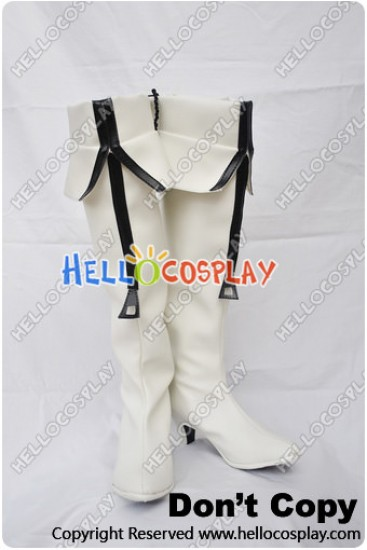 Vocaloid Cosplay White Rock Shooter White Boots