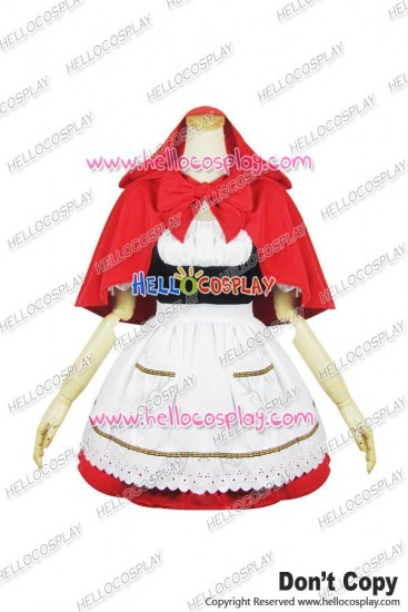 Little Red Riding Hood Cosplay Maid Dress