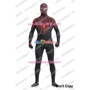 Spider Man Peter Parker Cosplay Costume Jumpsuit Black New Ver
