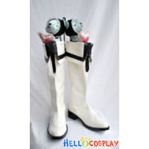 White Rockshooter Cosplay Boots