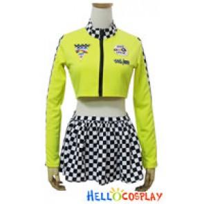 Angel Feather Cosplay Zipper Racing Girl Costume