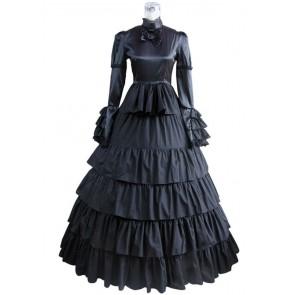 Victorian Lolita Steampunk Corset Gothic Lolita Dress Black