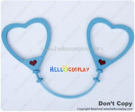 Vocaloid 2 Cosplay Love Philosophy Prop Heart Shaped Handcuffs Light Blue