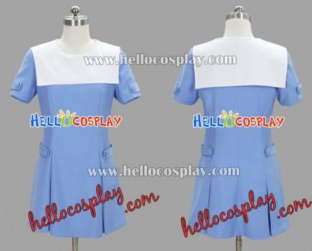 Zone-00 Cosplay Hime Shirayuri Costume Blue Dress