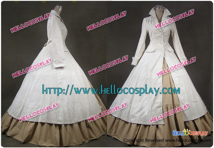 Renaissance Gothic Steampunk Coat Dress Ball Gown Cosplay