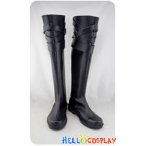 Karneval Cosplay Shoes Tsukitachi Black Long Boots