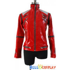 Michael Jackson Beat It Red Zipper Jacket Costume