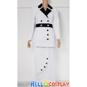 Titanic Rose Cosplay Costume Maiden Dress White