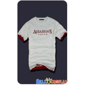 Assassin's Creed Cosplay Embroidery T Shirt White