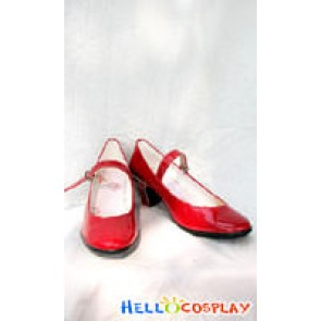 Sailor Moon Cosplay Hino Rei Shoes Red
