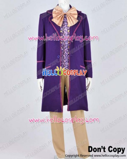 Charlie And The Chocolate Factory Cosplay Willy Wonka Costume Full Set