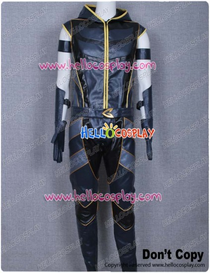Smallville Green Arrow Cosplay Black Leather Costume
