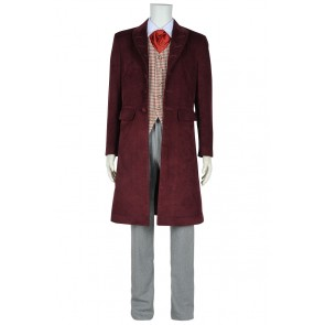 Doctor 4th Fourth Dr Tom Baker Daily Uniform Cosplay Costume Full Set