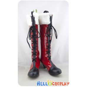 Love Live School Idol Project Field Of View Cosplay Shoes Eli Ayase Red Boots