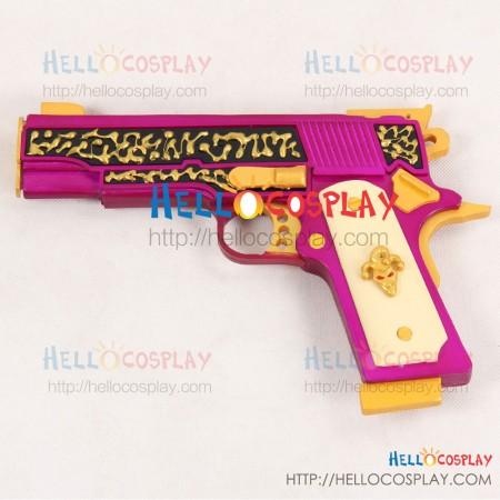 Suicide Squad Cosplay The Joker Pistol Gun Weapon Prop Purple Version