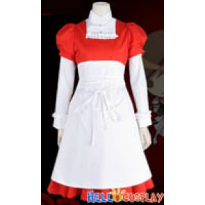Vocaloid 2 Cosplay Meiko Red Maid Dress