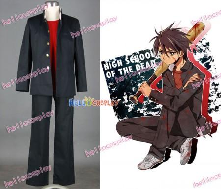 Highschool of the Dead Cosplay Komuro Takashi Costume