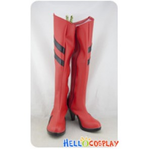 Neon Genesis Evangelion EVA Cosplay Shoes Asuka Langley Soryu Red Boots