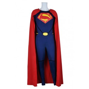 Superman Man Of Steel Cark Kent Jumpsuit Cosplay Costume