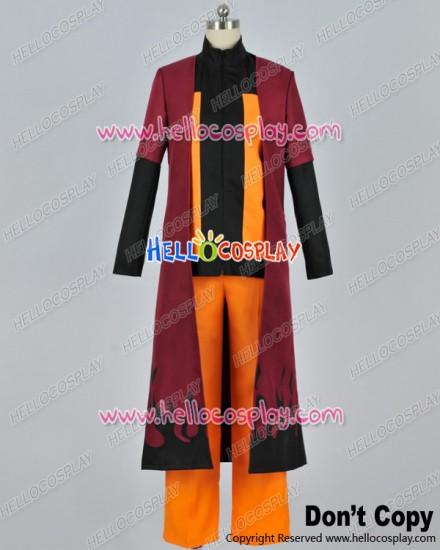 Naruto Cosplay Naruto Uzumaki Cape Uniform Costume