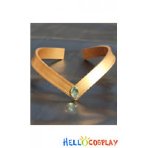 Sailor Moon Cosplay Jupiter Makoto Kino Green V Shaped Headwear Prop