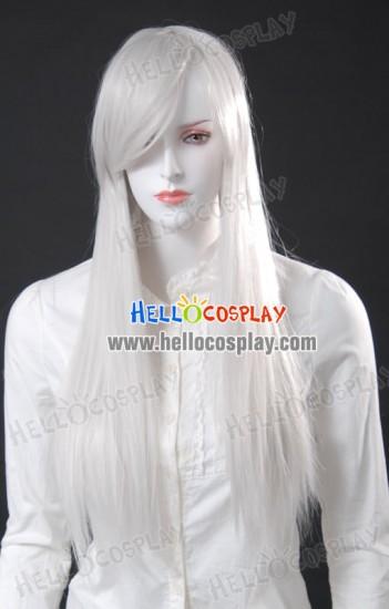 Cosplay White Medium Wig