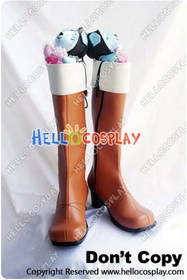 Lamento Beyond The Void Cosplay Konoe Brown Boots