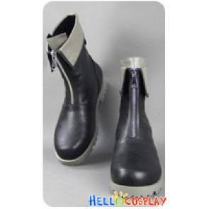 Final Fantasy VII 7 Cosplay Cloud Strife Zipper Short Boots