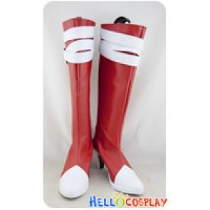 Pokémon Pokemon Cosplay Xatu Red White Boots